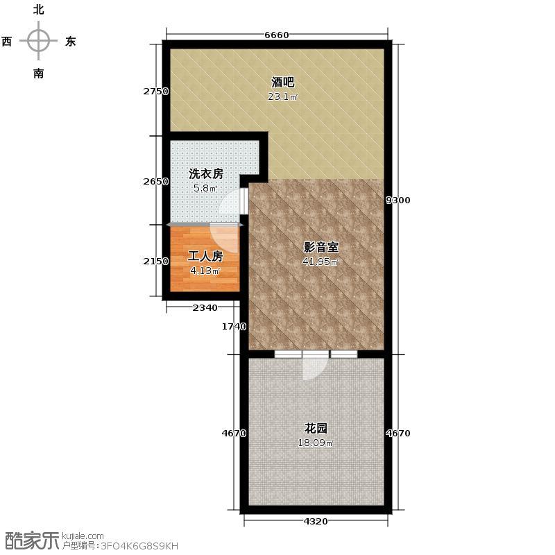 保利十二橡树庄园232.00㎡v2-4地下室平面图户型10室