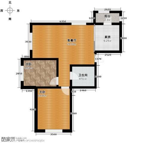 伟峰东第2室2厅1卫0厨82.00㎡户型图