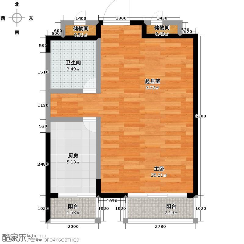 保利百合香湾46.00㎡一期D户型1室1厅1卫
