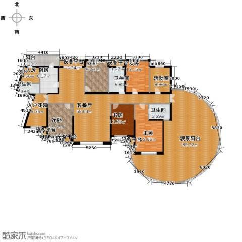 滨湖世纪城5室1厅3卫1厨377.00㎡户型图