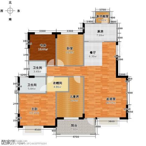 中信城3室2厅2卫0厨280.00㎡户型图