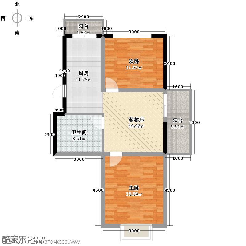 大众新城74.47㎡户型10室