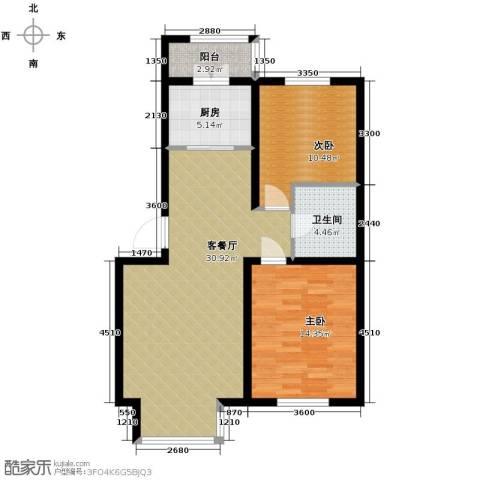 翰逸华园二期2室2厅1卫0厨93.00㎡户型图