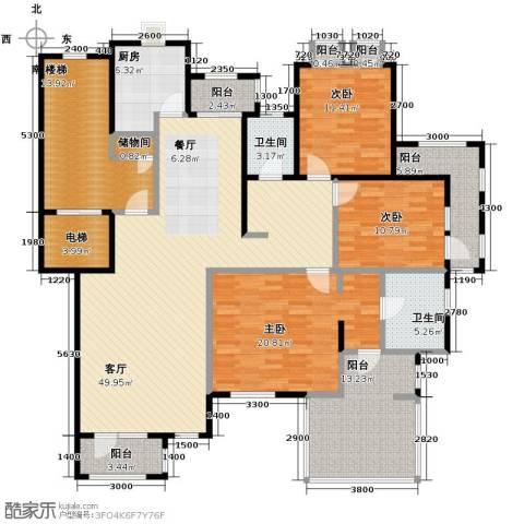 力旺塞歌维亚3室1厅2卫1厨214.00㎡户型图