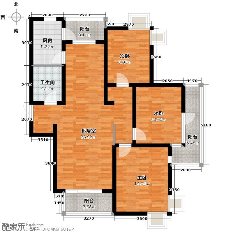 山水泉城133.00㎡2#D3户型10室