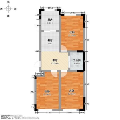 嘉元十方界3室1厅1卫0厨86.00㎡户型图