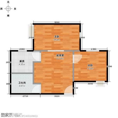唐品A+2室0厅1卫1厨41.55㎡户型图