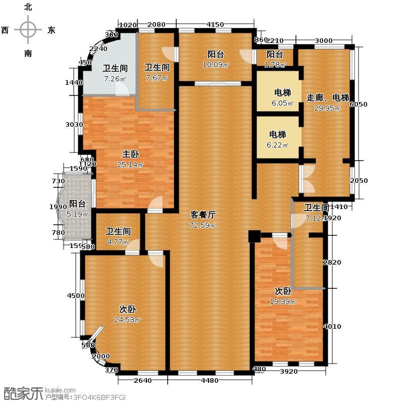 华府庄园241.07㎡户型10室