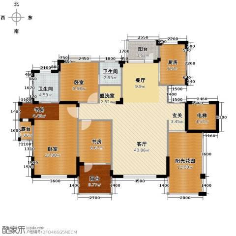 九洲湾景汇1室1厅2卫1厨141.00㎡户型图
