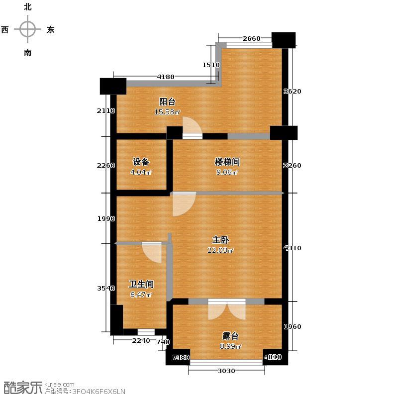 保利红珊瑚193.00㎡联排别墅01三层户型4室2厅4卫