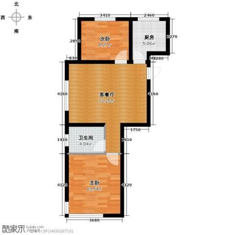 格林英郡2室1厅1卫1厨82.00㎡户型图
