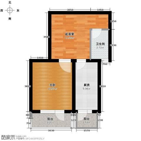 海伦堡1室2厅1卫0厨47.00㎡户型图