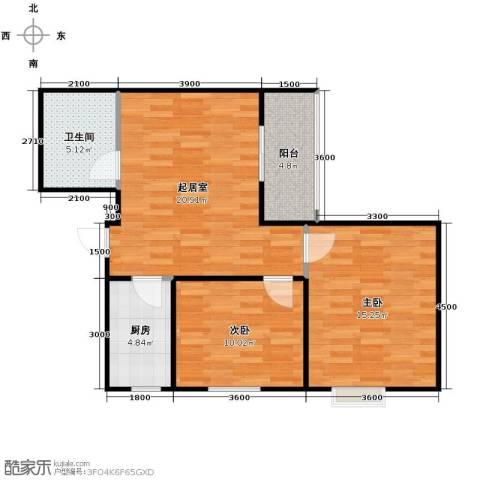 �灞天睦城2室2厅1卫0厨83.00㎡户型图