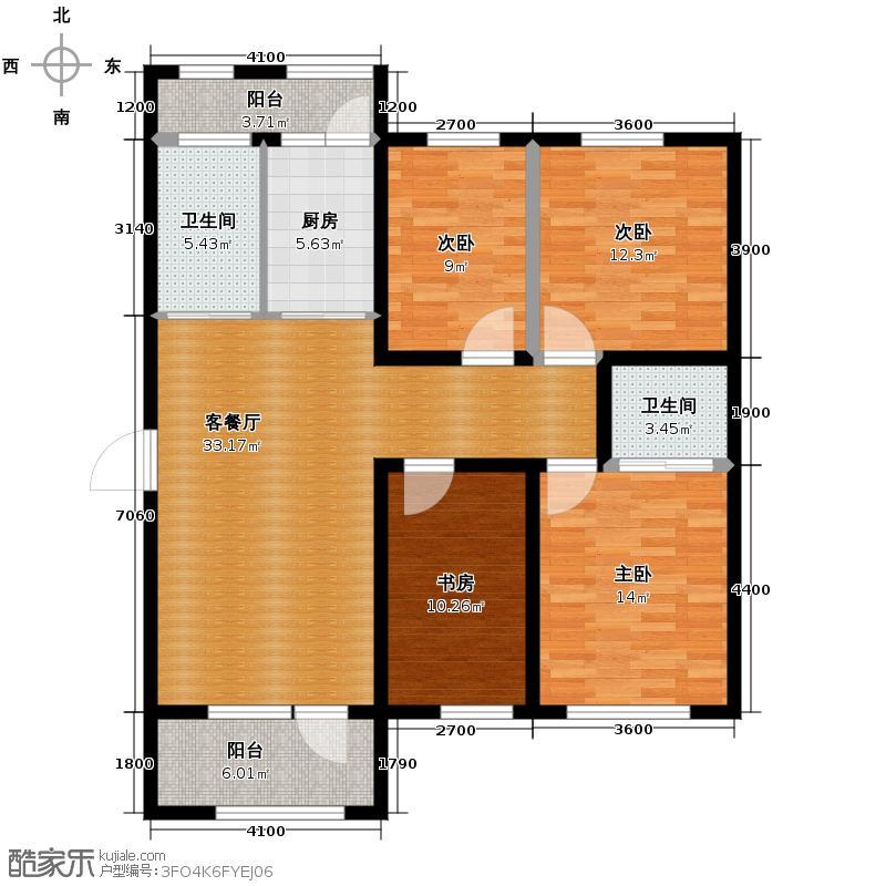 美地庄园118.41㎡户型10室