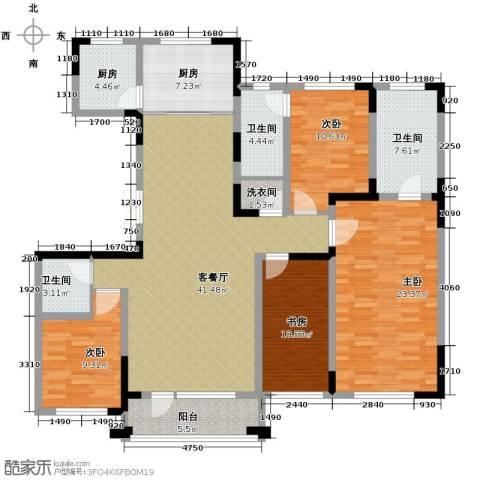 复地康桥4室2厅3卫0厨148.08㎡户型图