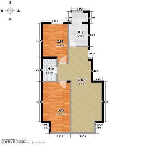 翰逸华园二期2室2厅1卫0厨95.00㎡户型图