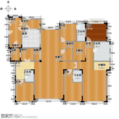 中海紫金苑3室2厅3卫0厨320.00㎡户型图