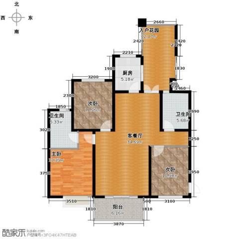 滨湖世纪城3室1厅2卫1厨146.00㎡户型图