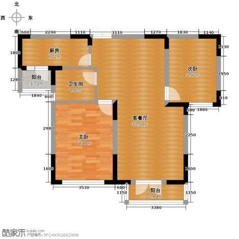同方广场2室2厅1卫0厨94.00㎡户型图