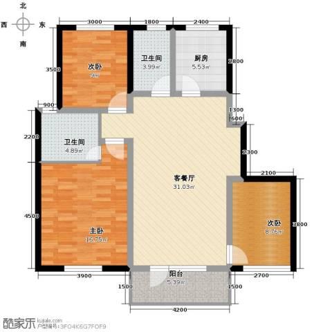 格林英郡3室1厅2卫1厨112.00㎡户型图