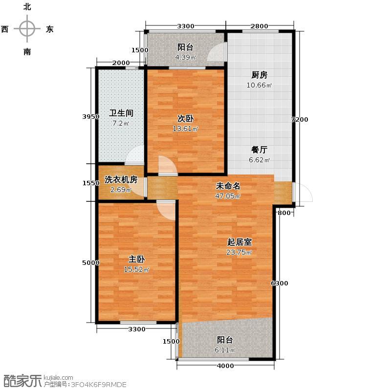 枫蓝国际78.39㎡9号楼户型2室1厅1卫