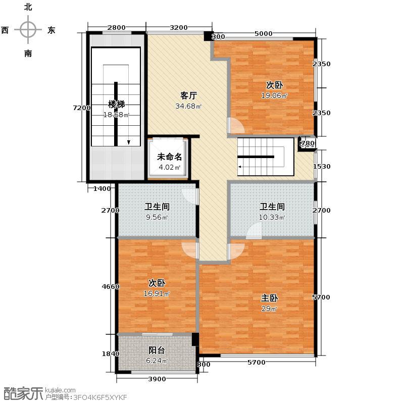 雅戈尔长岛花园320.00㎡高层C1-2户型10室