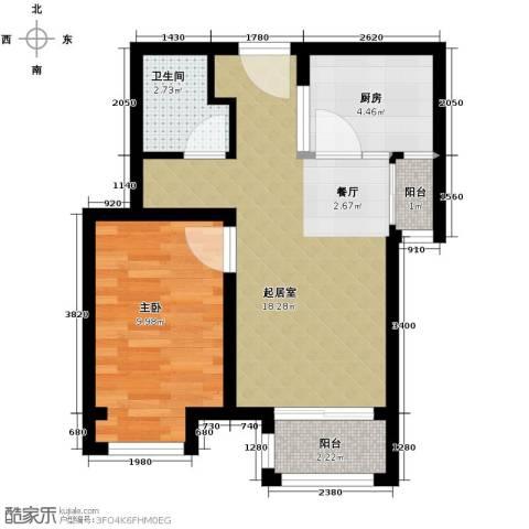 绿宸万华城1室1厅1卫0厨59.00㎡户型图