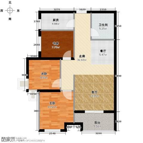 九珑邑3室2厅1卫0厨106.00㎡户型图