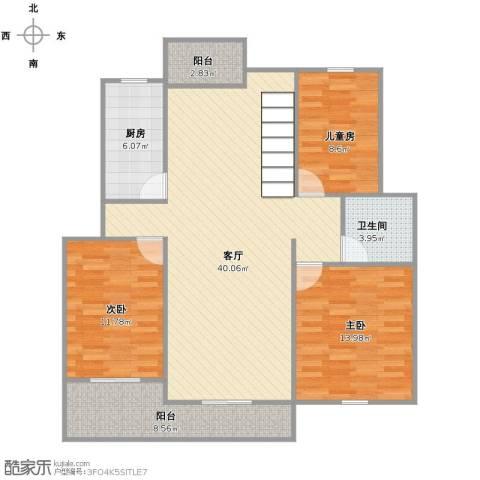鼎盛花园3室1厅1卫1厨103.00㎡户型图