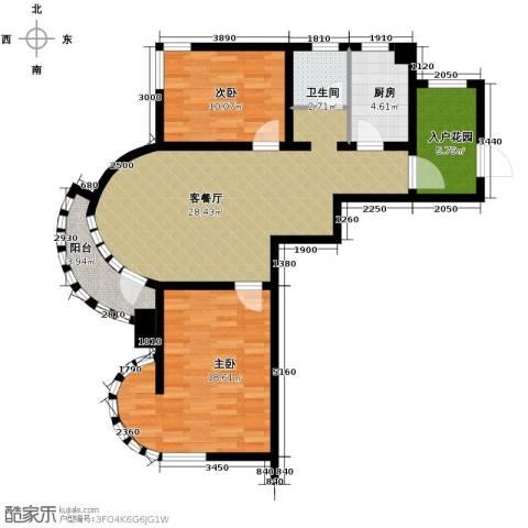 钓鱼台七号2室1厅1卫1厨77.00㎡户型图