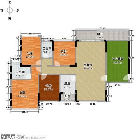 金地格林4室1厅2卫1厨179.00㎡户型图