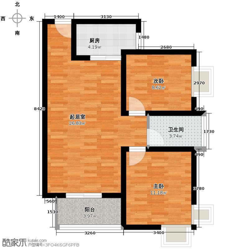 天正银河湾85.09㎡48#、50#A-3户型10室