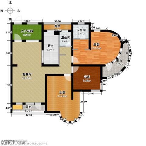 钓鱼台七号3室1厅2卫1厨127.00㎡户型图