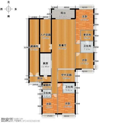 保利外滩一号4室2厅3卫0厨245.58㎡户型图