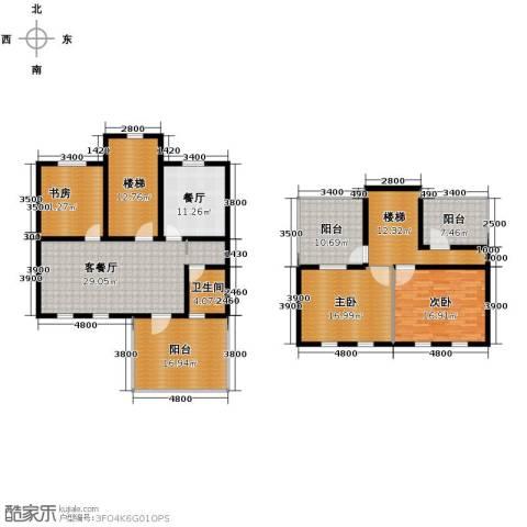 欧风小镇3室2厅1卫0厨165.00㎡户型图