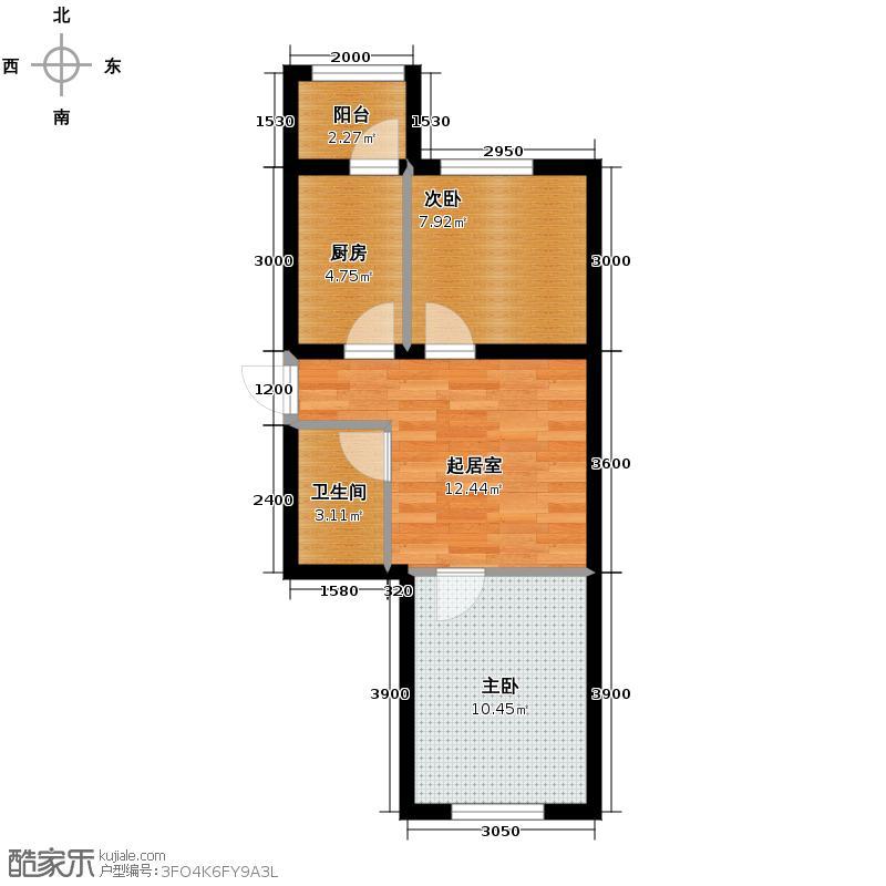 华瑞园中园52.88㎡户型10室