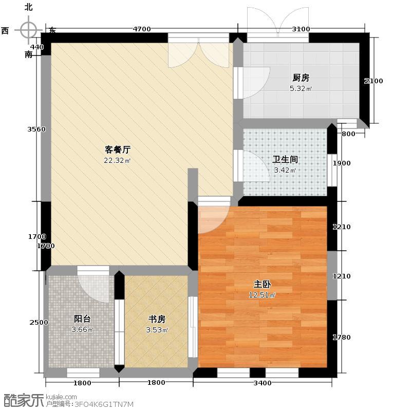 大华曲江公园世家59.08㎡早期已售罄户型10室