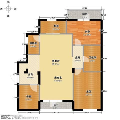万科潭溪别墅138.00㎡户型图