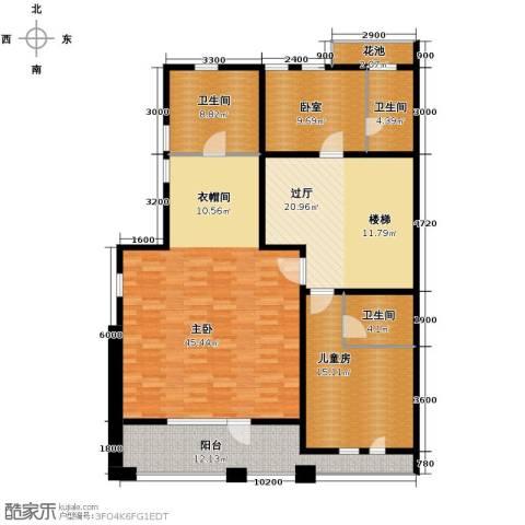 中信净月山3室1厅2卫0厨278.00㎡户型图
