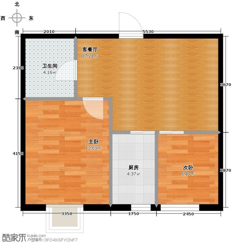 百荷湾49.28㎡户型10室