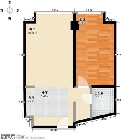 万科城峰汇1室1厅1卫0厨77.00㎡户型图