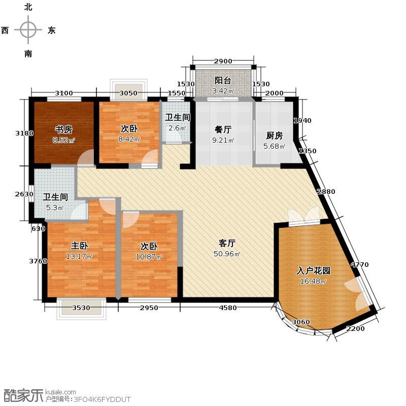 天朗御湖149.83㎡G1户型4室2厅2卫