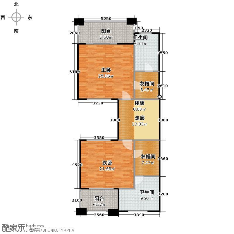 鼎峰尚境116.07㎡环山别墅I组团A第三层户型5室4厅5卫