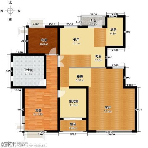 九洲湾景汇2室1厅1卫0厨167.00㎡户型图