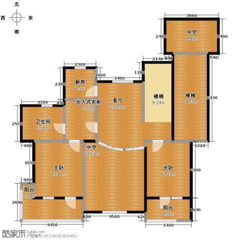 力旺塞歌维亚2室1厅1卫1厨172.00㎡户型图