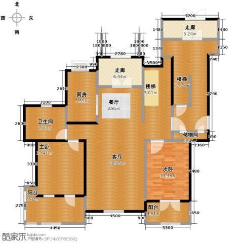 力旺塞歌维亚2室1厅1卫1厨188.00㎡户型图