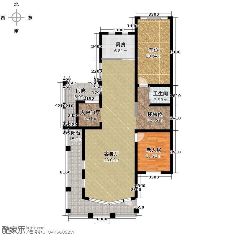 保利十二橡树庄园222.00㎡V1首层平面图户型10室