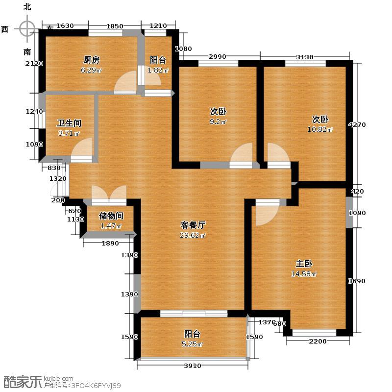 紫薇风尚3期95.74㎡户型10室