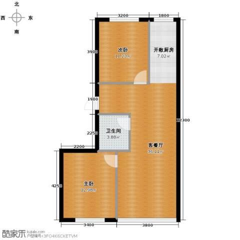 恒润御林湾2室1厅1卫0厨89.00㎡户型图