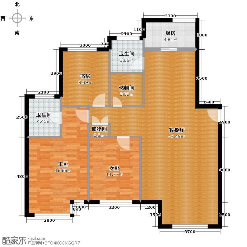 泰莱香榭里151.40㎡户型3室1厅2卫1厨